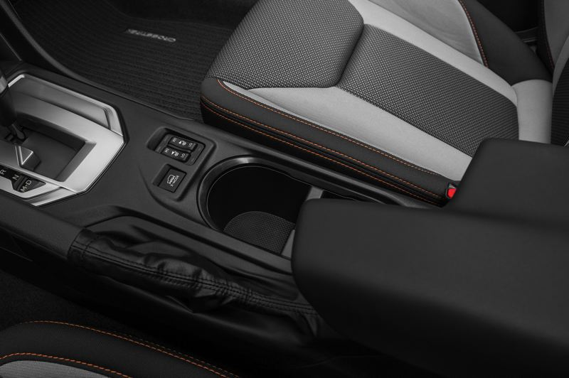 SUBARU OF AMERICA - The X-Mode button on the center console activates a Hill Descent Control system for going down steep inclines more safely.