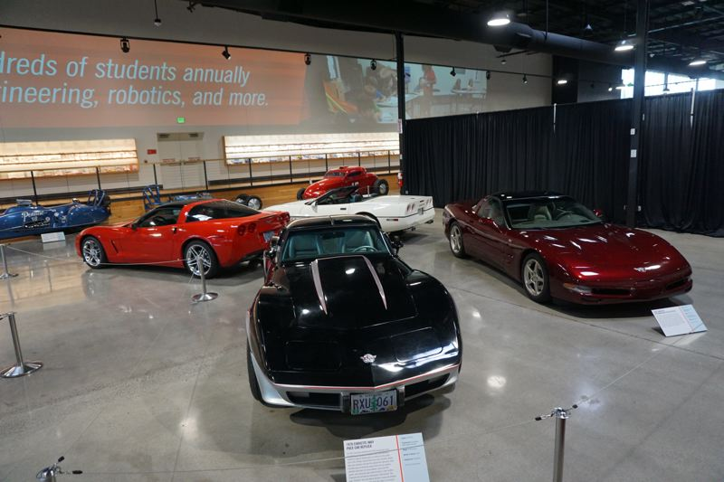 PORTLAND TRIBUNE: JEFF ZURSCHMEIDE - Examples of the third, fourth, fifth, and sixth generation Corvettes are on display.