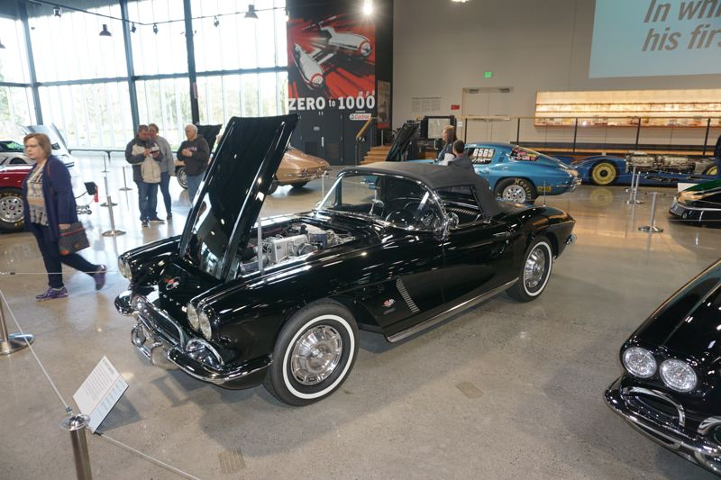 """PORTLAND TRIBUNE: JEFF ZURSCHMEIDE - This rare fuel-injected Corvette from the 1950s is part of the display, as is the famous red and white model used in the movie """"Animal House."""""""