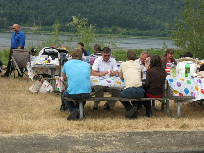 CONTRIBUTED PHOTO: OREGON STATE PARKS - Picnickers enjoy a tasty meal at Rooster Rock State Park.