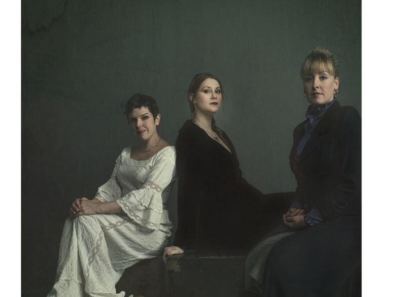 PHOTO BY GARY NORMAN - Dainichia Noureault (Irina), Liz Jackson (Masha) and Christy Bigelow (Olga) play the title roles in Patrick Walsh's adaptation of 'Three Sisters.'