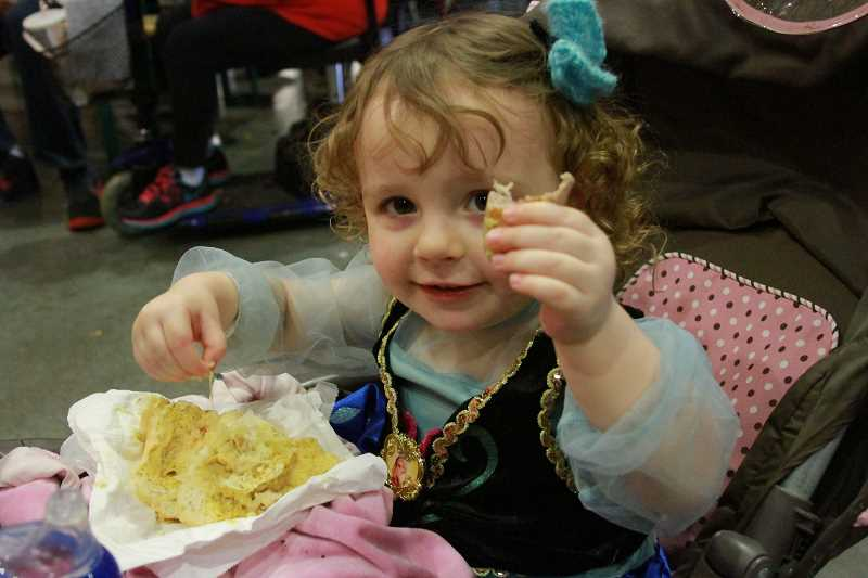 INDEPENDENT FILE PHOTO - Varieties of German sausage delight people of all ages at the annual Wurstfest in Mount Angel.