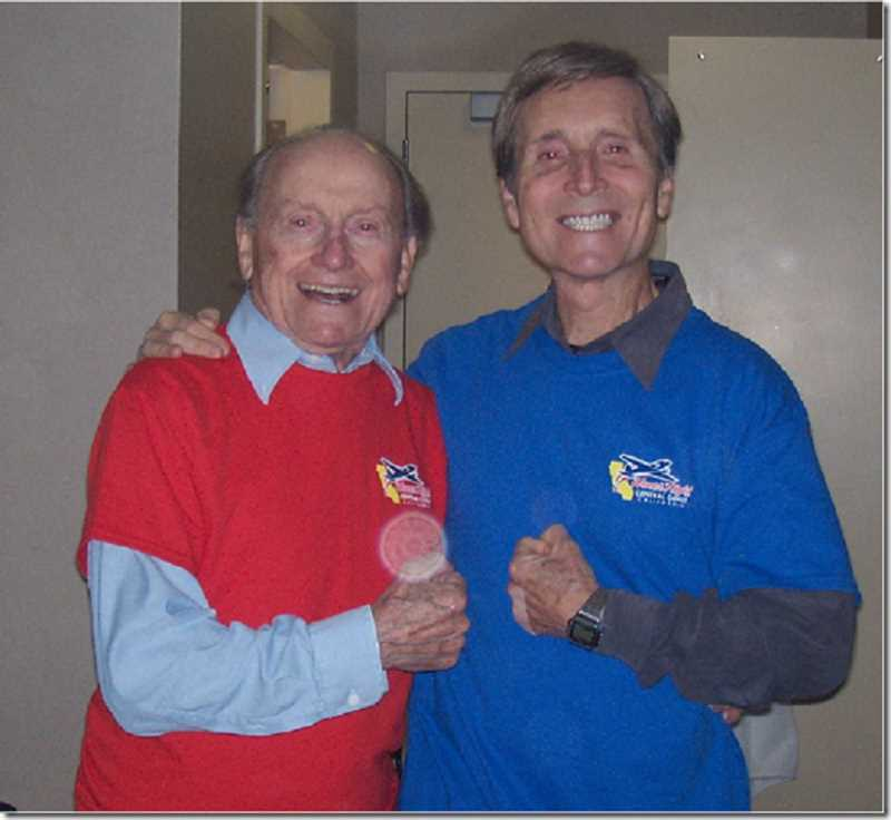 SUBMITTED PHOTO  - John Ferenz Sr., left, will celebrate his 100th birthday Jan. 11. Pictured with him is John Ferenz Jr. on the occasion of an Honor Flight to Washington D.C.