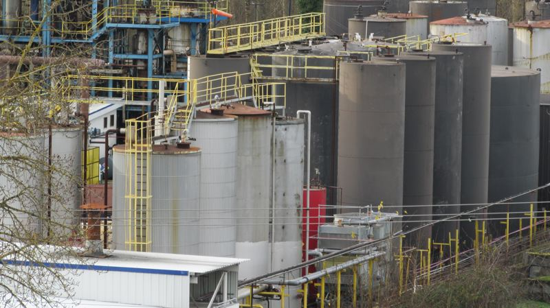 COURTESY OF TOM TEST  - The EcoLube Recovery plant, as viewed from the Portland Expo Center across the street.
