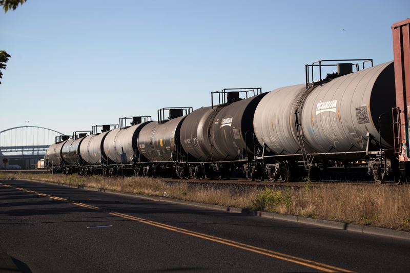 TRIBUNE FILE PHOTO: JAIME VALDEZ  - The Tesoro Savage oil-by-train terminal project may be doomed in Vancouver, after the Port of Vancouver withdrew its lease for space.