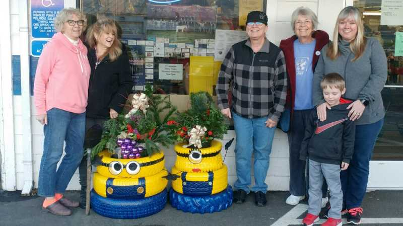 Some nice little Minion planters were created and donated to the Kiwanis thrift store by the Canby Garden Club.