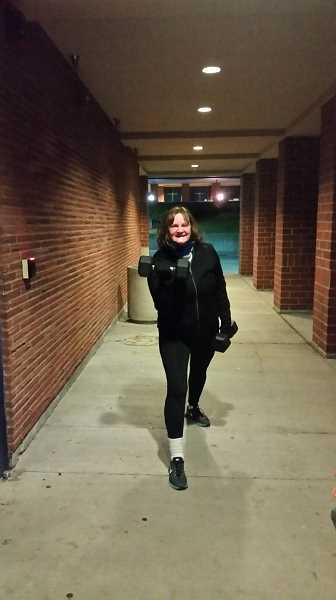 SUBMITTED PHOTO: KITTY CAVANAUGH  - Barb Randall signed up for Small Group Fitness Training, aka boot camp, after being inspired by a story written by reporter Sam Stites last fall. She truly enjoys the class.