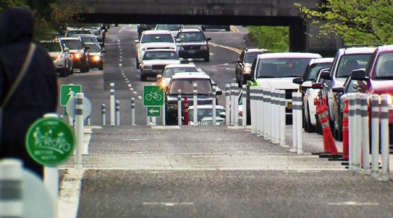 KOIN 6 NEWS - One lane was closed for the Better Naito project last September.