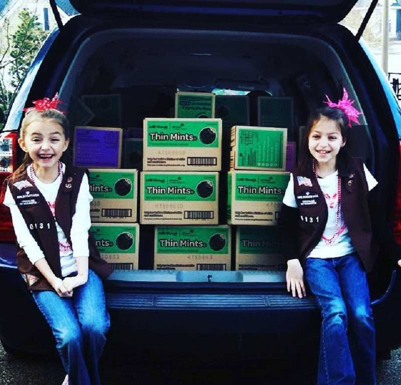 Melanie Gabriel Hastings and Makayla McCartney-Pike have been selling Girl Scout cookies together ever since they were Brownies.'One of my favorite parts of selling cookies is hanging out with my best friend' Mela
