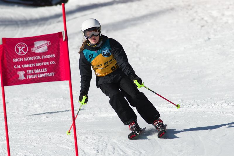 FOR THE TIMES: MIKE JULIANA - Tualatin's Megan Jost competes in the giant slalom event at Saturday's season-opening ski race.