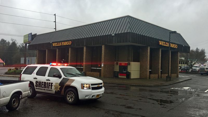 PHOTO: WCSO - A bank in Raleigh Hills was robbed Thursday morning.