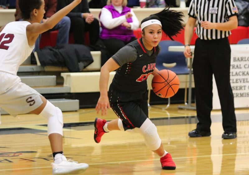 REVIEW/NEWS PHOTO: JIM BESEDA - Clackamas' Bri Phiakhamngon is one of 16 high school girls' basketball players from Oregon to earn a nomiation to the 2018 McDonald's All American Game.