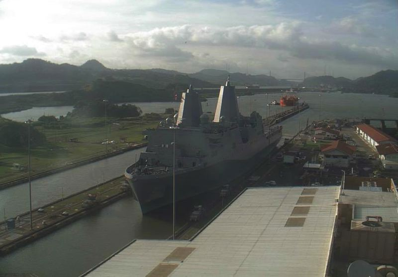 COURTESY USS PORTLAND COMMISSIONING COMMITTEE - The USS Portland in the Panama Canal on Tuesday, Jan. 9.
