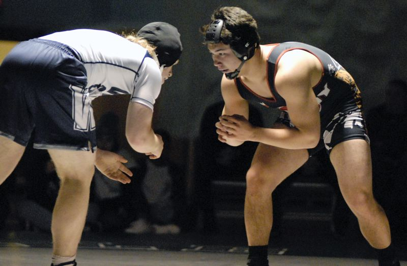 SANDY POST: MATT RAWLINGS - Sandys Jack Rademacher won the 182-pound bracket — one of three Pioneer champions — at last weekends Robert Paul Invitational.