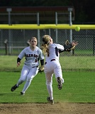 by: HILLSBORO TRIBUNE PHOTO: CHASE ALLGOOD - Glencoe shortstop Macy Besuyen (1) and outfielder Hannah Rossman converge on a pop up during last Friday's game against No. 4 Tualatin.