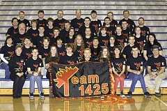 by: SUBMITTED PHOTO - From left to right, front row: Marsha Steffen, Caleb Weston, Pascale Patterson, Chance Arana, Jacob Tiderman, Emma Steffen, Anna Keil, Lance Sheeley and Larry Sheeley. Second row: Dru Patterson, Thomas Woltjer, Tristan Briggler, Luke Somerscales, Kelsey Underwood, Maritza Perez, Tori Bianchi, Sean Tan and Sara Leondar. Third row: Tom Somerville, Logan Spear, Mitch Nelke, Karen Harper, Kaili Crawford, Meghan Burrell, Claire Mallon and Katie Burrell. Fourth row: Marshal Stowell, Brad Olson, Ryan Kelly, Jarad Johnson, Eli Hill, Aaron Leondar, Austin Castillo and Al Bianchi. Back row: Forrest Edwards, Jeff Lewis, Jeff Harper, Tim Bennington-Davis, Eric Rippey, Steve Tarr and David DePiero. Missing students: Sophia Ries, Brennan VandenHoek, Katie Wells. Missing mentors: Kris Troha, Bob Tidrick, Jacob Peterson, John Jennings and Matthew Eppelsheimer.