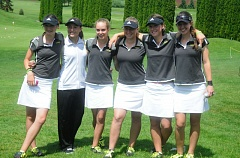 by: MATTHEW SHERMAN - Amanda Elich, Katie Fillion, Chloe Barnes, Kirbi Havemann, Kristin Elich and Sarah Archuleta wrapped up another strong season with a second-place finish in state at Quail Valley in Banks on Tuesday.