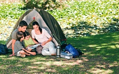 by: DREAMSTIME PHOTO - Remembering to pack a few safety essentials can help ensure that your next camping trip will be a safe one.