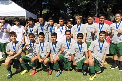 Photo Credit: PHIL HAWKINS - Woodburn Athletic Futbol Clubs U14 team Real Madrid went undefeated in the 2014 Oswego Nike Cup July 25-27 to win the U14 Gold championship.