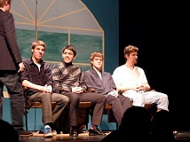 Photo Credit: CAROL READ - Pictured is a previous show's performance of 'The Dating Game', featuring Chase Porfily as host and (from left) Scott Steele, Aaron Caballero, Skyler Younger and Will Benson.