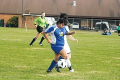 Photo Credit: PHIL HAWKINS - Gervais defender Angela Jaramillo is one of seven seniors set to return to the Cougars soccer program this fall.