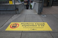 Photo Credit: TRIBUNE PHOTO JAIME VALDEZ - TriMet will close the MAX platform at the Sunset Transit Center beginning on Sept. 3 to replace failing tiles.