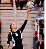 Photo Credit: SPOKESMAN FILE PHOTO - Lexy Thompson figures to be a key cog in the Wilsonville volleyball lineup.