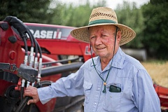 Photo Credit: HILLSBORO TRIBUNE PHOTO: CHASE ALLGOOD - Edmund Duyck has been farming wheat in the Hillsboro area since 1954. At age 84, Duyck still operates a tractor and enjoys producing crops on his land.