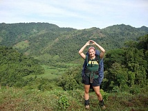 Photo Credit: SUBMITTED PHOTO - Madison Rasmussen shows her Oregon pride in Piedras Blancas during the seven day hike and homestay phase of her trip to Costa Rica.