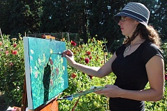 Photo Credit: HILLSBORO TRIBUNE PHOTO: JOANN BOATWRIGHT - Hillsboro painter Elizabeth Hodgson is a veteran of Hillsboro Plein Air, which is back this weekend for the eighth consecutive year.