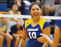 Photo Credit: PHIL HAWKINS - Andrea Villegas celebrates the Cougars' victory over Scio on Sept. 9