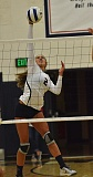 Photo Credit: VERN UYETAKE - Lake Oswego's Natalia Perry elevates for a spike during last week's match against Lakeridge. She had the game-winning kill in the fifth set for the Lakers.