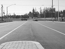 Photo Credit: GAZETTE FILE PHOTO - This is a shot of the Tualatin side of 124th Avenue at the Tualatin-Sherwood Road intersection. Plans are to extend the road all the way out to Tonquin Road in an area that's being zoned for future light industrial growth.