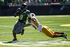 Photo Credit: COURTESY OF DAVID BLAIR - Byron Marshall might be Oregon's best at running with the ball this season, even though he is playing more at slot receiver, says running backs coach Gary Campbell.