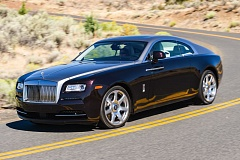 Photo Credit: DOUG BERGER/NWAPA - A 2014 Rolls Royce Wraith cuts through Central Oregon during this year's Run to the Sun, organized by the Northwest Automotive Press Association.