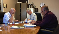 Photo Credit: COURTNEY VAUGHN - Columbia County Board of Commissioners meet during a staff session in July to review applicants for the new Jail Operating Citizen Advisory Committee. The committee will be tasked with overseeing the spending of jail levy funds.