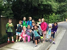 Photo Credit: SUBMITTED PHOTO - Westridge students make their way to school during International Walk + Bike to School Day.