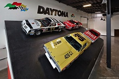 Photo Credit: COURTESY WORLD OF SPEED - Workers have completed the Daytona 500-themed Nascar display at the World of Speed in Wilsonville.