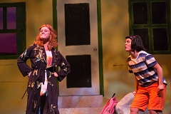 Photo Credit: COURTESY PHOTO: OWEN CAREY - Madison Wray portrays Ivy, and Haley Ward is Bean in the Oregon Children's Theatre's new production that opened in the Newmark Theatre on Saturday.