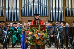 Photo Credit: SUBMITTED PHOTO - Dr. Melody Rose was greeted with spectacle, pomp and high praise when she was inaugurated as the new president of Marylhurst University on Sunday.