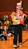 Photo Credit: SUBMITTED PHOTO - Nate Watton demonstrated movie-going trashion with this outfit made of recycled snack food packaging.