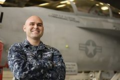 Photo Credit: COURTESY PHOTO - Petty Officer 1st Class Alan Breaux is an aviation structural mechanic serving in the U.S. Navy on Whidbey Island in Washington.