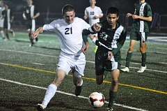 Photo Credit: MATTHEW SHERMAN - Lake Oswego's Houston Greenberg was one of just four seniors on this year's team which took second in the TRL and made the second round of the playoffs.