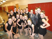 Photo Credit: SUBMITTED PHOTO - The members of the Wilsonville Pride Dance team competed at the Mount Hood Dance Festival Nov. 8.