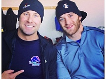 Photo Credit: CONTRIBUTED PHOTO - Mick Cunningham and Sam Michener, right, are members of Team USAs second sled heading into the winter sports season next month. The two were college track rivals briefly in the sprints at Boise State and Idaho.