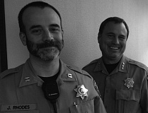 Photo Credit: PHOTO COURTESY: CCSO - Lt. James Rhodes and Clackamas County Sheriff Craig Roberts sport beards to help raise awareness for a mens health charity.