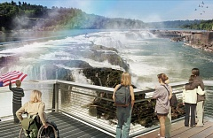 Photo Credit: RENDERING COURTESY: CITY OF OC - A planned Riverwalk aims to connect Oregon Citys Main Street with Willamette Falls.