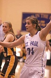 Photo Credit: PHIL HAWKINS - The St. Paul girls basketball team has leaned heavily on starting posts Cassidy Merten (above) and Emma Coleman through the first three games of the season this year.