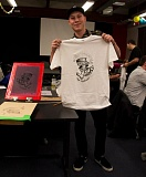 Photo Credit: COURTESY OF PORTLAND STATE UNIVERSITY - A PSU students shows a hand-printed T-shirt illustrated with a student-designed logo for the new low-carb beer.