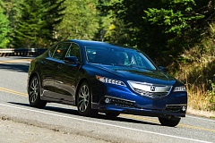 Photo Credit: DOUG BERGER/NORTHWEST AUTOMOTIVE PRESS ASSOCIATION - The all-new 2015 Acura TLX cis a well balanced entry level lexury sport sedan.